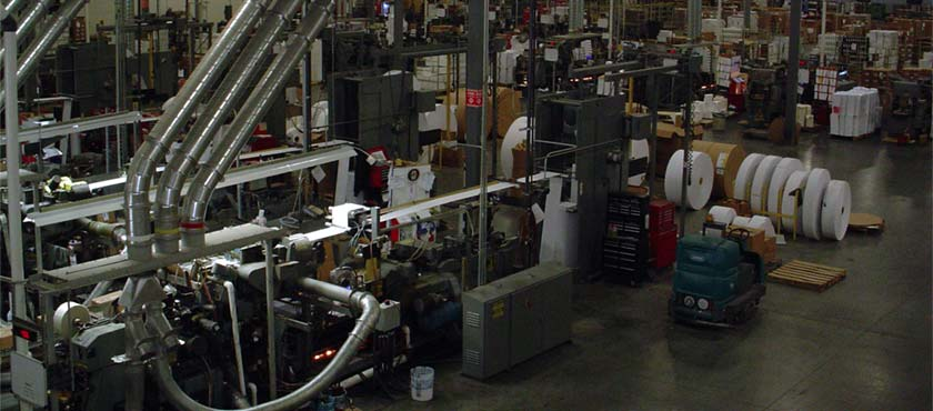 Cenveo Envelope's state-of-the-art facility in Ennis, Texas.