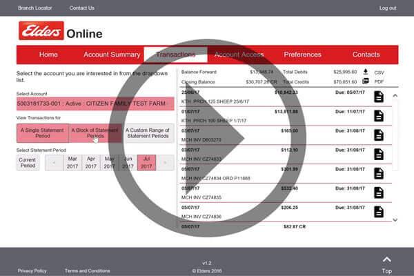 View a video demonstrating the Elders Online web portal