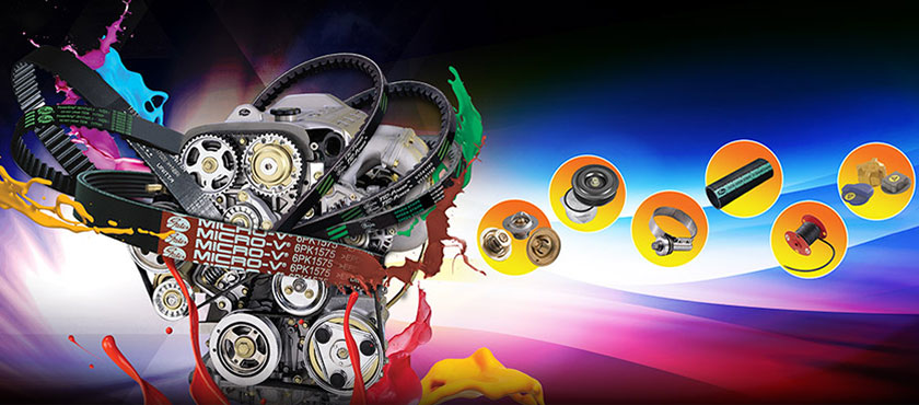 Gates provides a host of superior auto parts including V-belts, synchronous belts, radiator hoses, hose fittings, crimpers, car hydraulics and power transmissions.