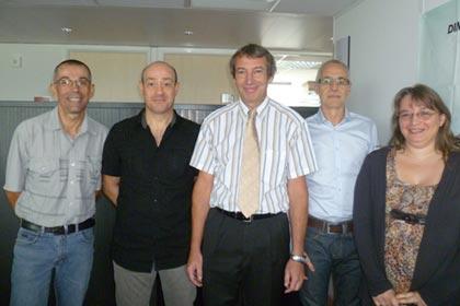 The IT development team at Groupama Assurance Crédit - Left to right: François Beau, Jean-Paul Arnould, Jean-Luc Even, Yves Arnaud, Nathalie Laloux