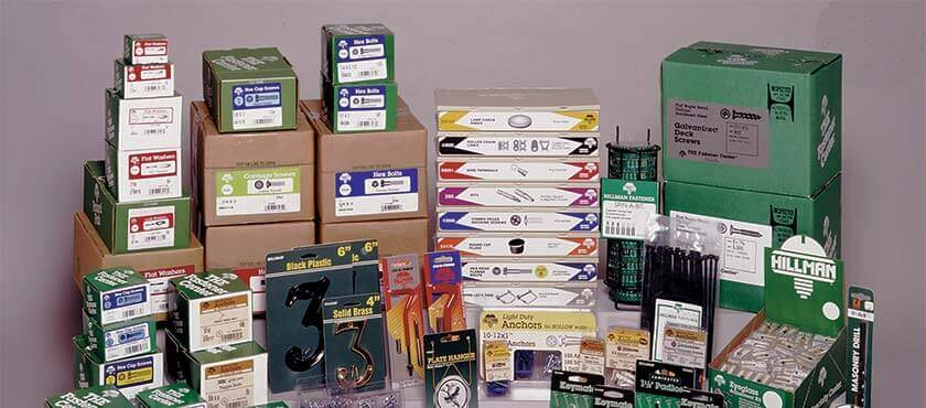 The Hillman Group keeps over 21,000 retailers stocked with an assortment of over 55,000 small, inexpensive but essential hardware items.