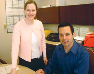 Allison Park, director of Information Systems and Ron Rymarczyk, EDI coordinator