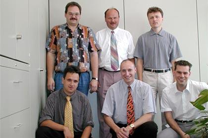 The REHAU iSeries development team: From left to right. Back row: Mr. Dietzel Mr. Herold and Mr. Schwotzer. Front row: Mr. Luckner, Mr. Greim and Mr. Watzlawzyk