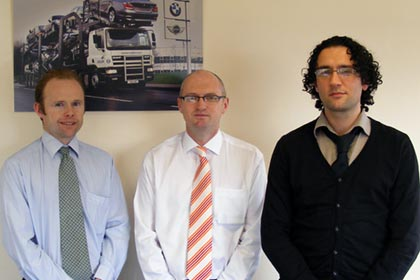 The Walon IT team: (From left to right) Tim Wiseman - UK IT Manager, Colin Williams - Head of IT and Stuart Smith - Project Vision Manager.