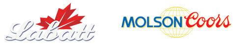 Labatt and Molson Beer logos
